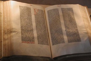 Gutenberg bible courtesy of Wikipedia